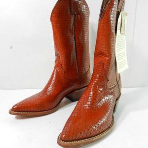 Justin Western Cowgirl Cowboy Boots 6 B Brown